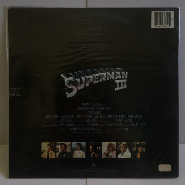 Superman III SEALED 1983 Soundtrack Warner Bros Records 23879-1 Mint
