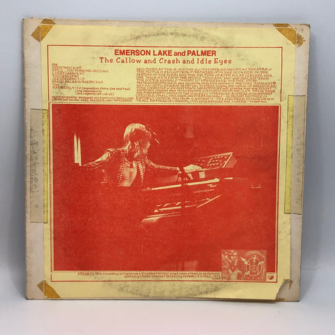 Emerson Lake & Palmer Callow Crash Idle Eyes Vinyl LP Record Star Trek Live '74 Prog Rock