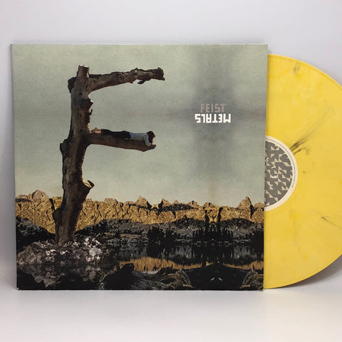 Feist Metals 2011 Rare Yellow Marble Colored Vinyl LP Record Folk Indie Pop NM