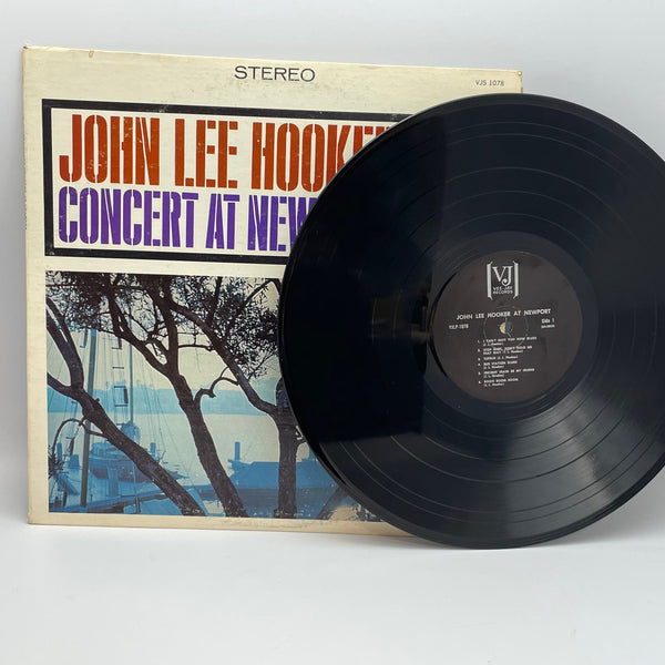John Lee Hooker ‎Concert At Newport 1965 Vee-Jay Black Label Vinyl LP Blues VJLP 1078
