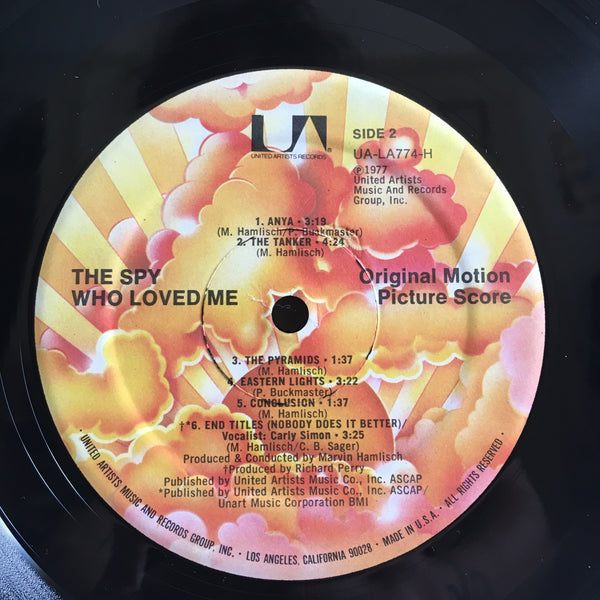 The Spy Who Loved Me 007 James Bond Soundtrack Original Vinyl LP VG++/VG