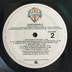 Superman 2 1981 Soundtrack Etched Vinyl LP + poster VG+/VG+