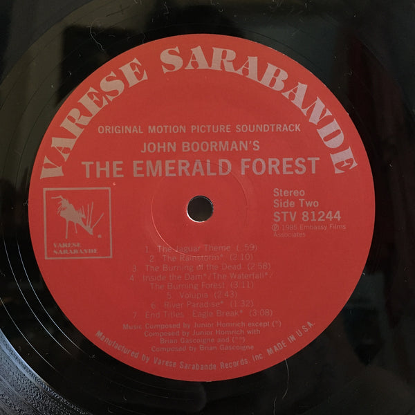 The Emerald Forest Vinyl LP 1985 Soundtrack Junior Homrich VG+/VG+ STV 81244