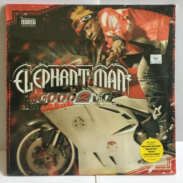 Elephant Man Good 2 Go 2003 2XLP SEALED Reggae Dancehall VP/Atlantic Records 83681