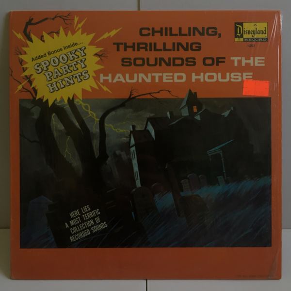 Chilling, Thrilling Sounds Of The Haunted House 1973 Disney Vinyl LP 1257 Sound Effects