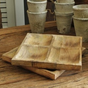 Wooden Square Spice Tray