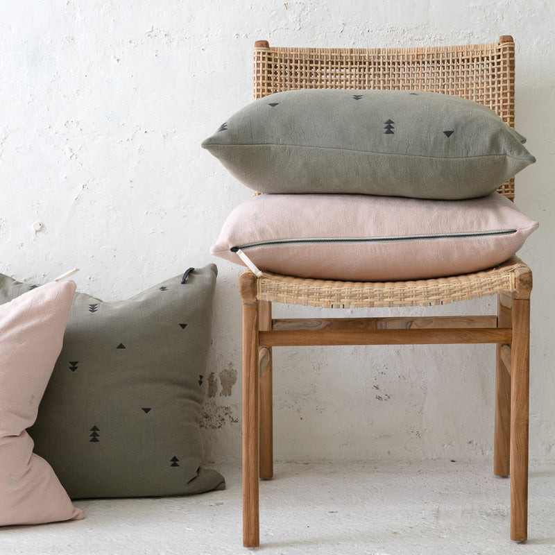 Vintage Wash Cushions - Dusty Pink