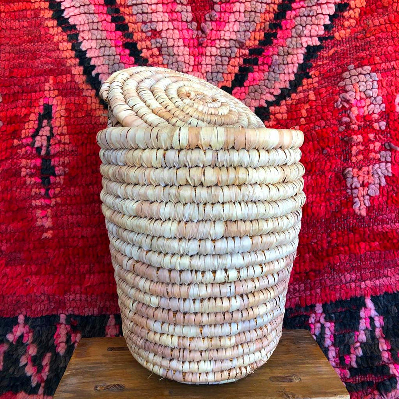 Moroccan Basket (Medium, Natural)