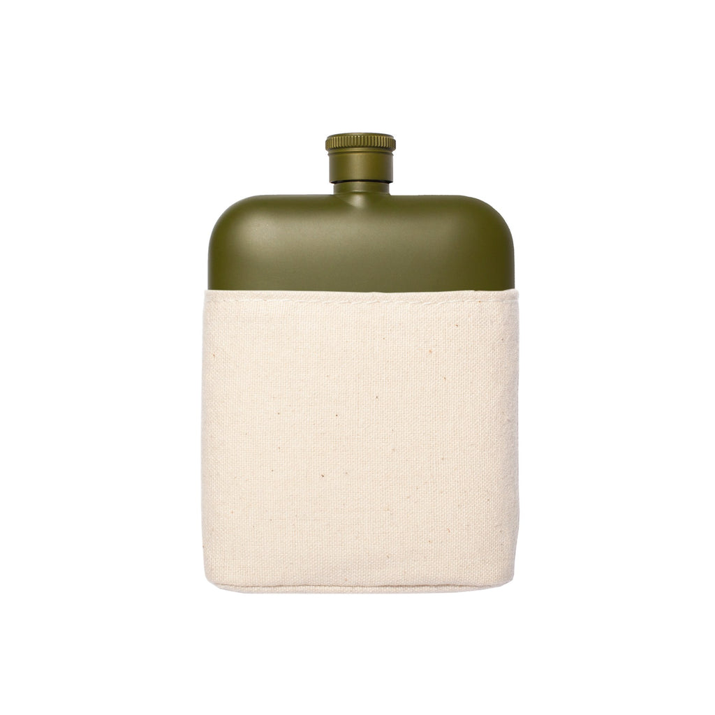 Flask & Canvas Carrier - 6oz Khaki