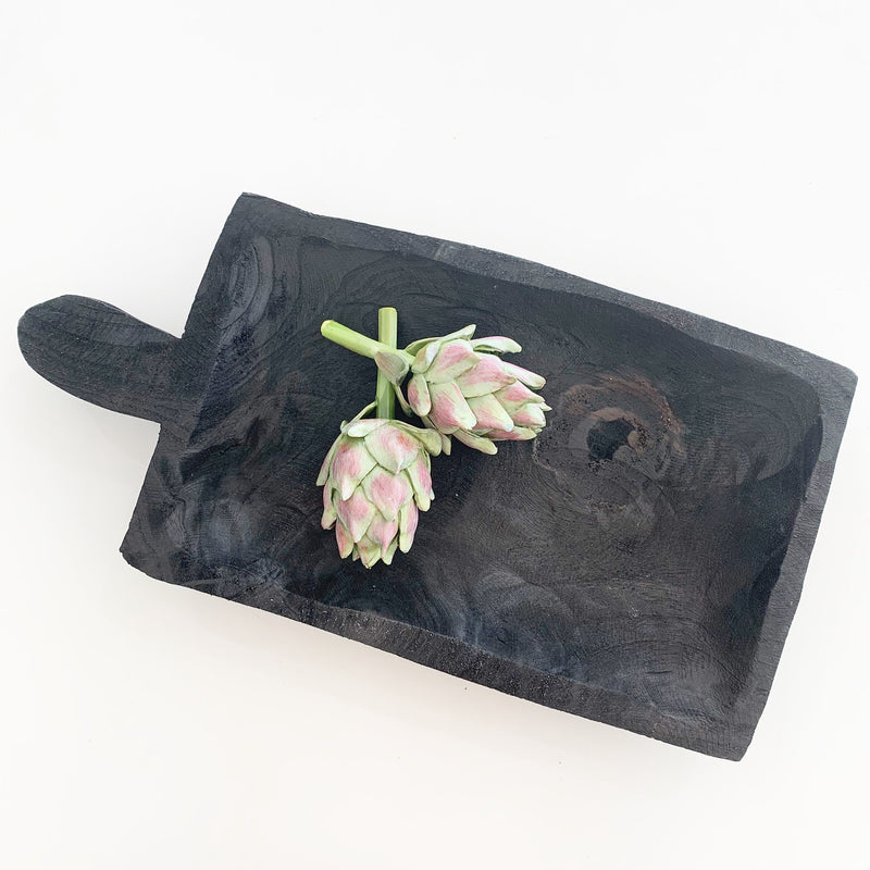 Shape Platter with Handle - Black