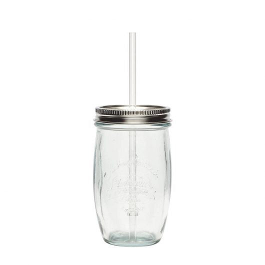 Recycled Tumbler with Straw