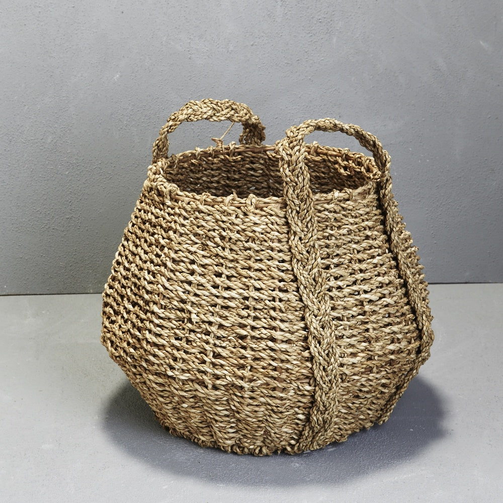 Seagrass Angular Basket with Handles