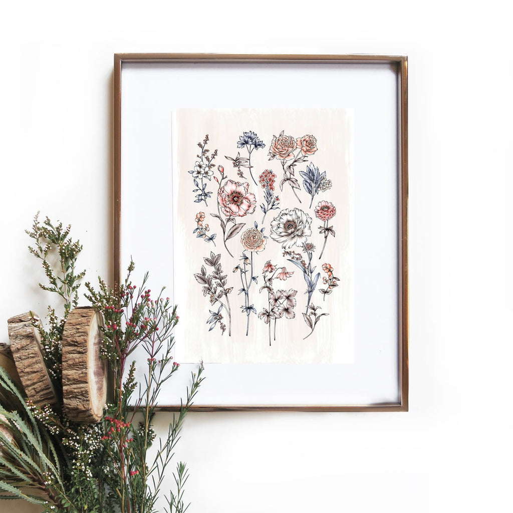 Beige Botanical Artprint