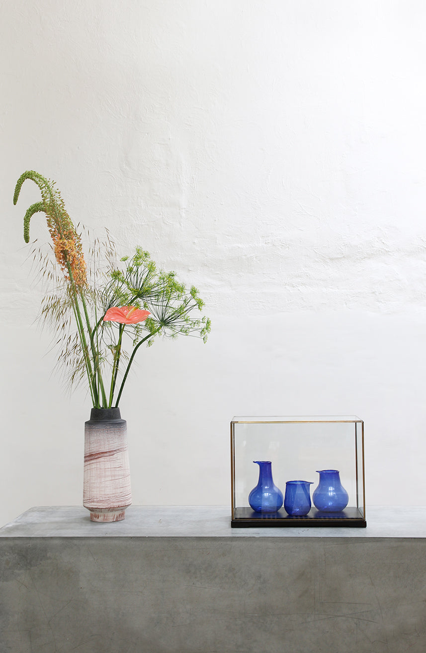 Recycled Glass Vases - Nude