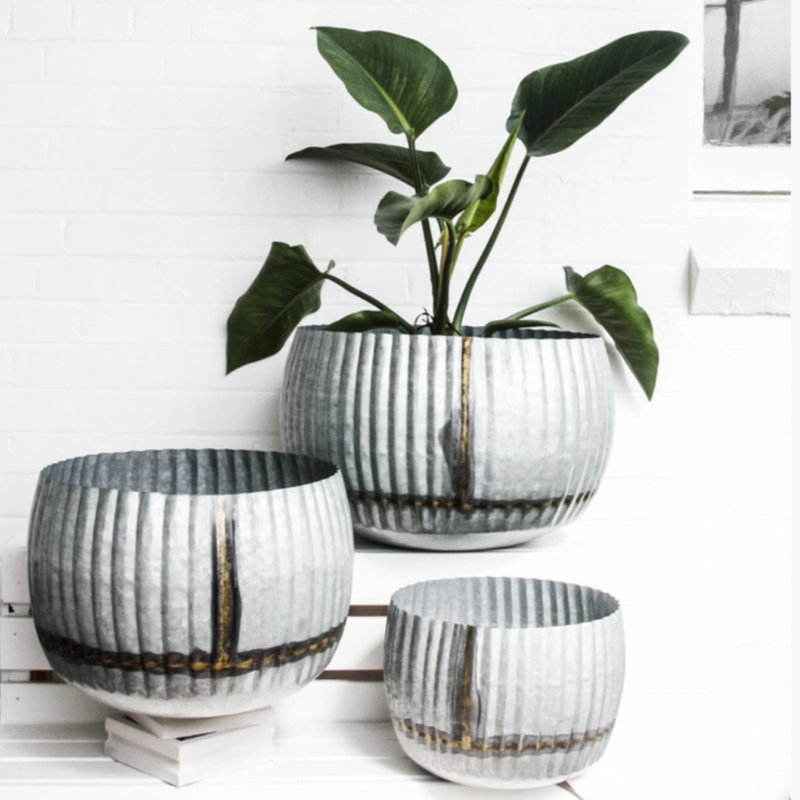 Ege Galvanised Planter Collection