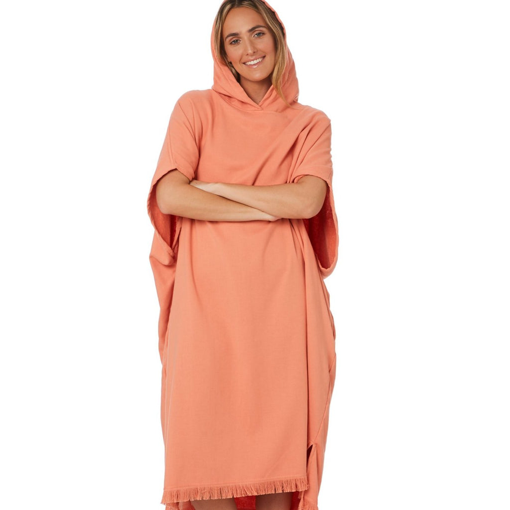 Adult Poncho Towel - Coral