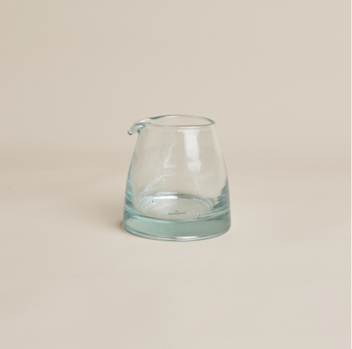 Handblown Moroccan Cream & Milk Jug