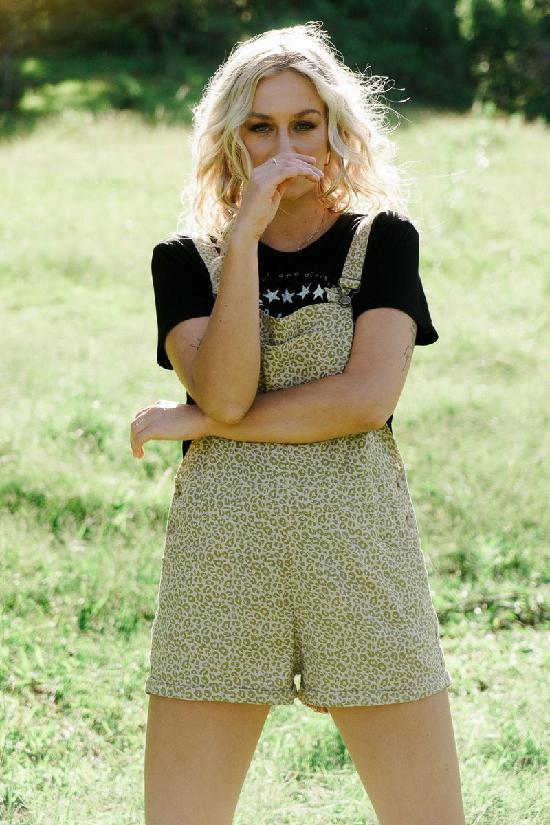 Linen Overalls - Cheetah Jetstream