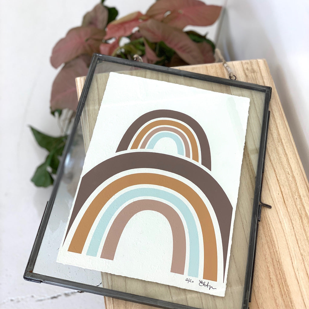 Glass Framed Rainbow Print