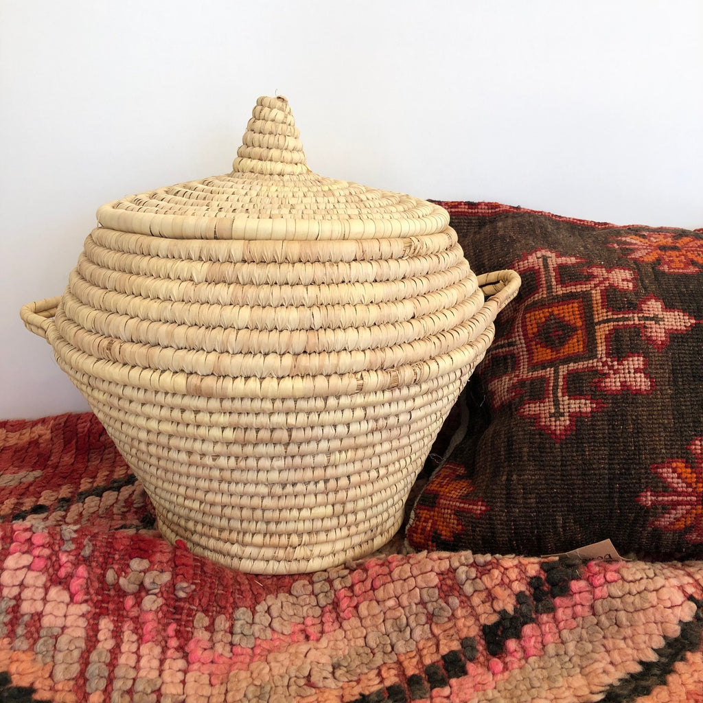 Moroccan Basket (Large, Natural)