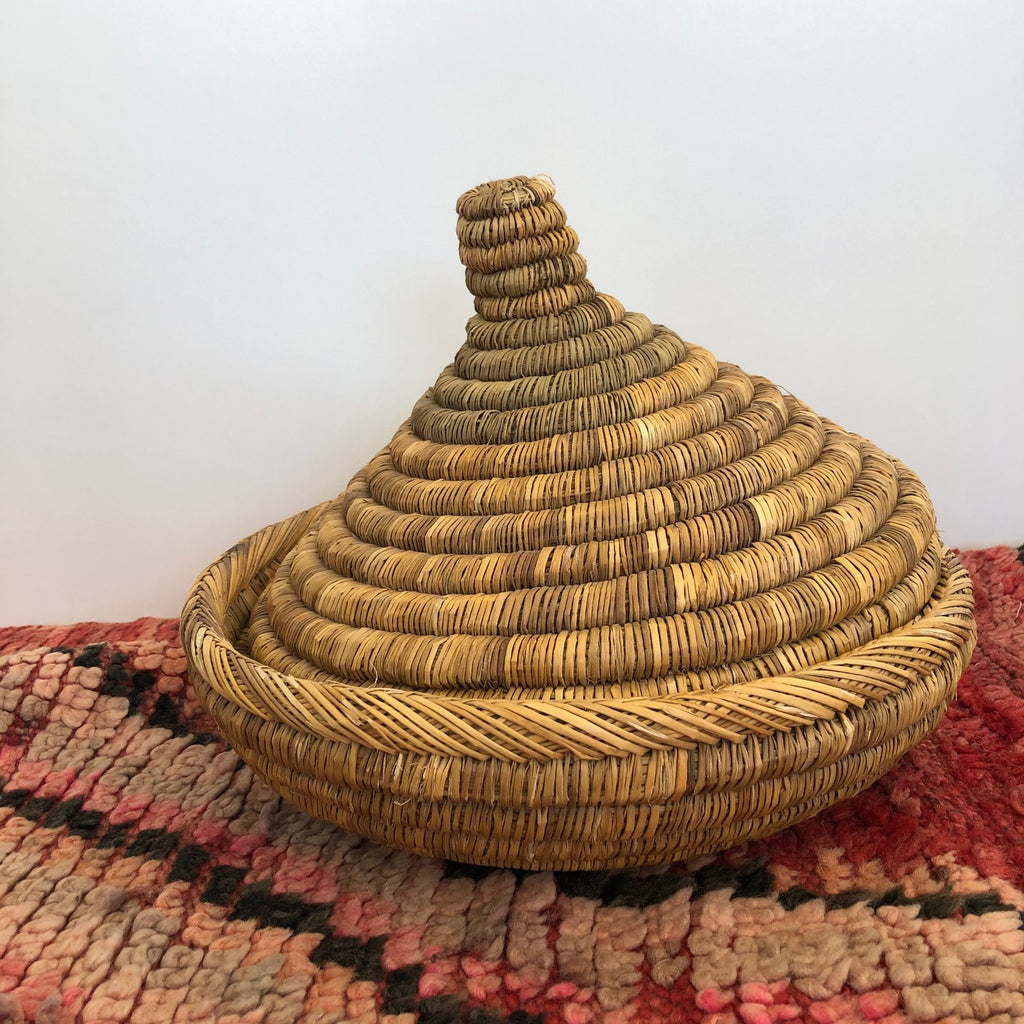 Moroccan Basket (Medium, Dark Natural)