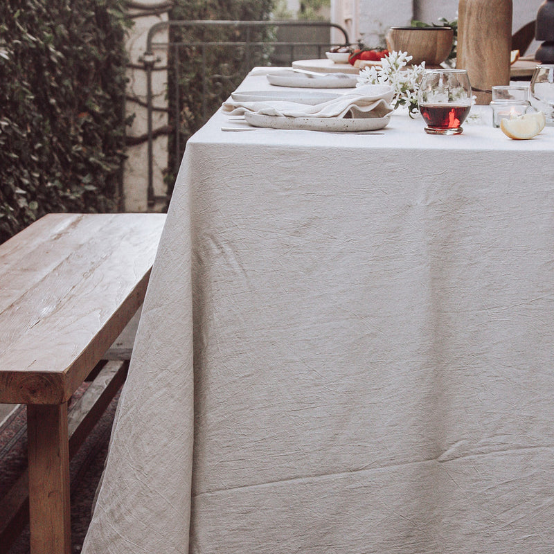Linen Table Cloth Natural