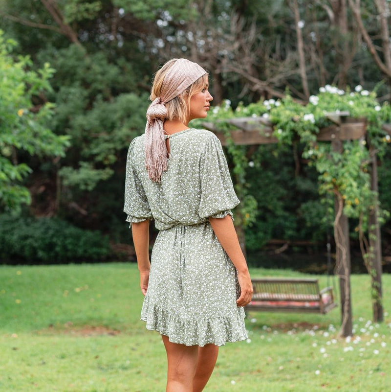 Natty Swing Dress - Olive