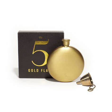 Flask Funnel - Gold