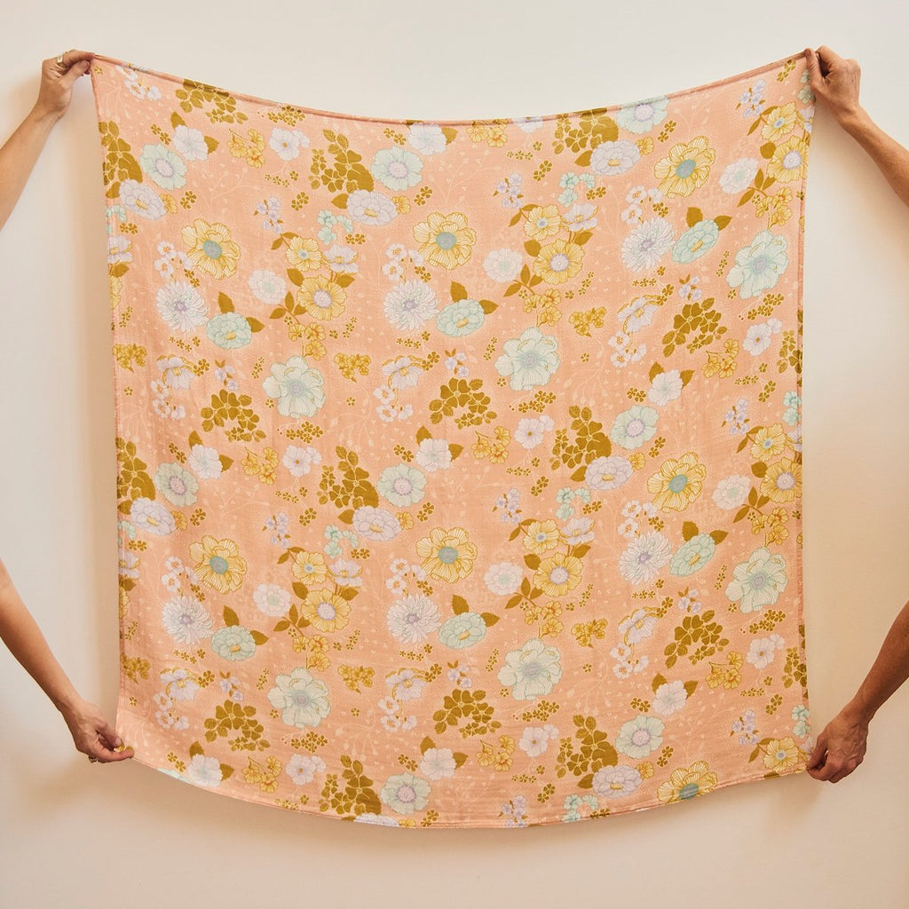 Peach Blossom Bamboo Organic Cotton Swaddle