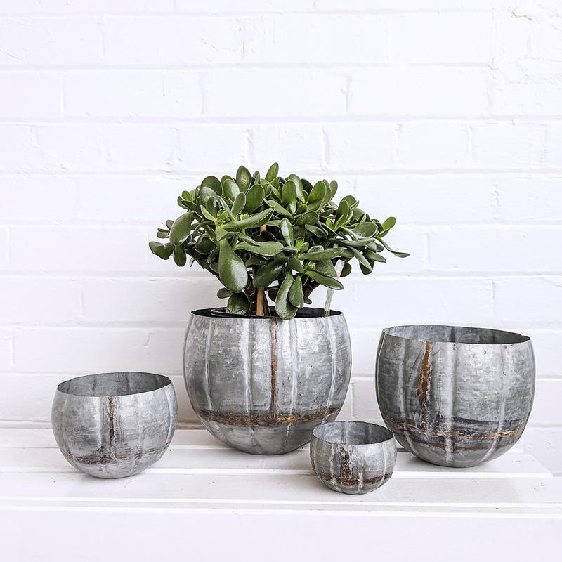 Dilim Galvanised/Brass Planter Collection