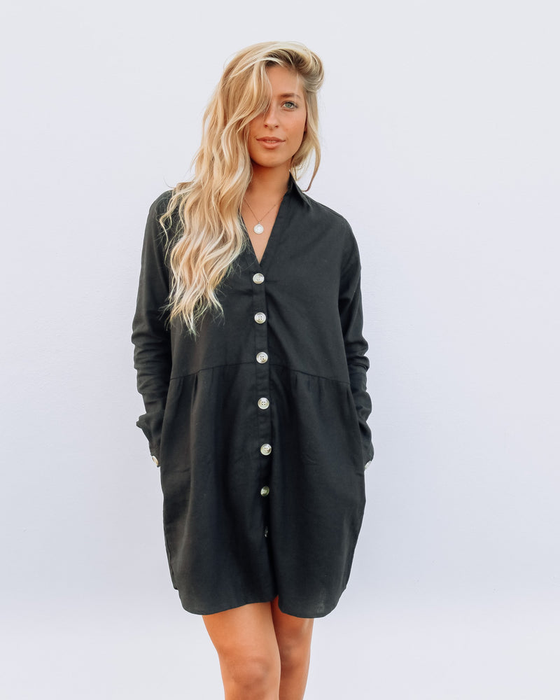 Paloma Dress - Plain Black