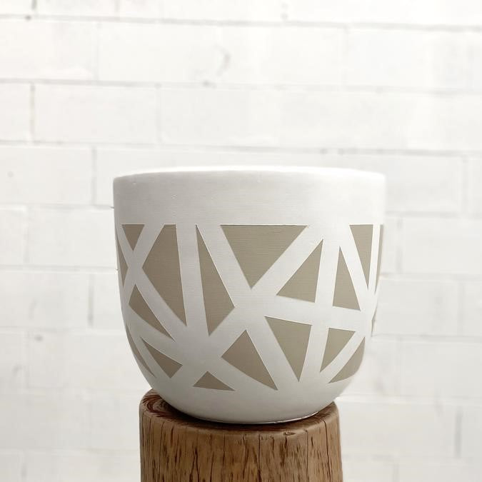 Beige Foliage Pot - Extra Large