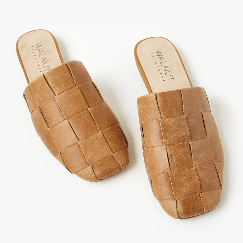 Rommie Leather Mule - Tan