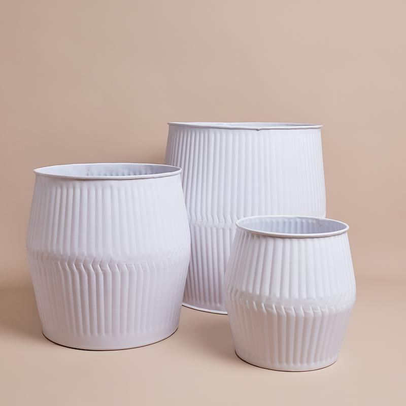 Marina Planter Collection White