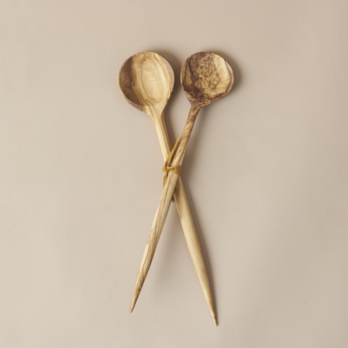 Olive Wood - Salad Spoon Set