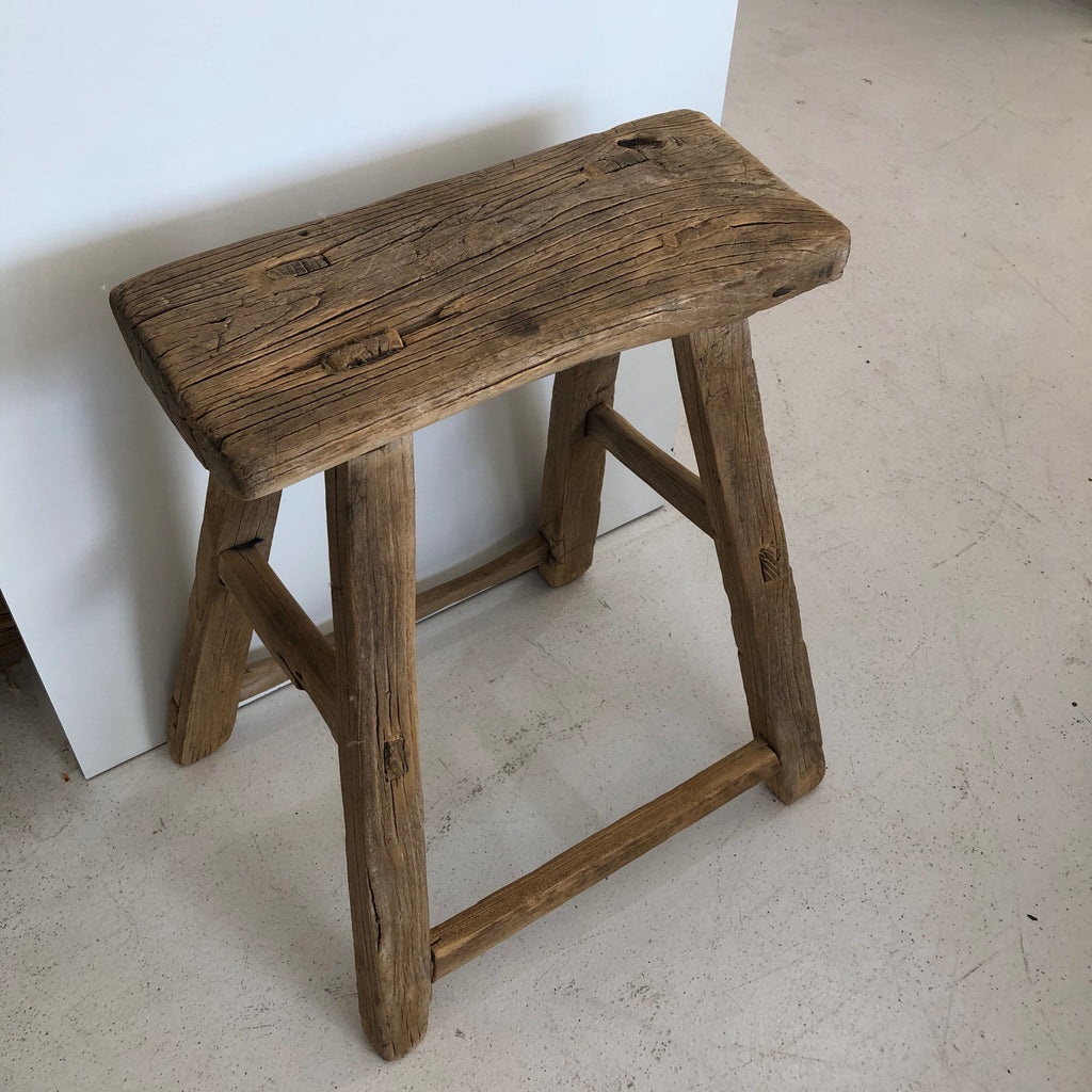 Antique Chinese Workers Stool