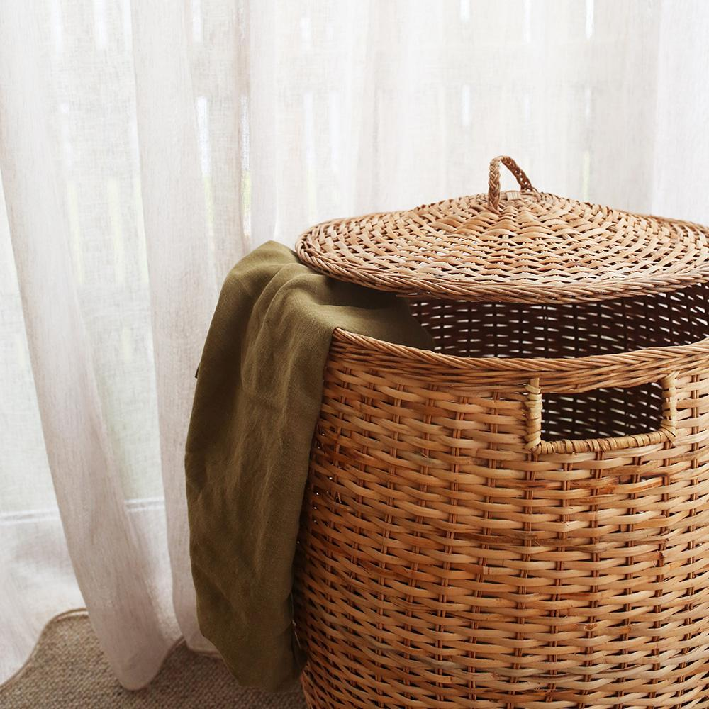 Tuscan Laundry Lidded Storage Basket