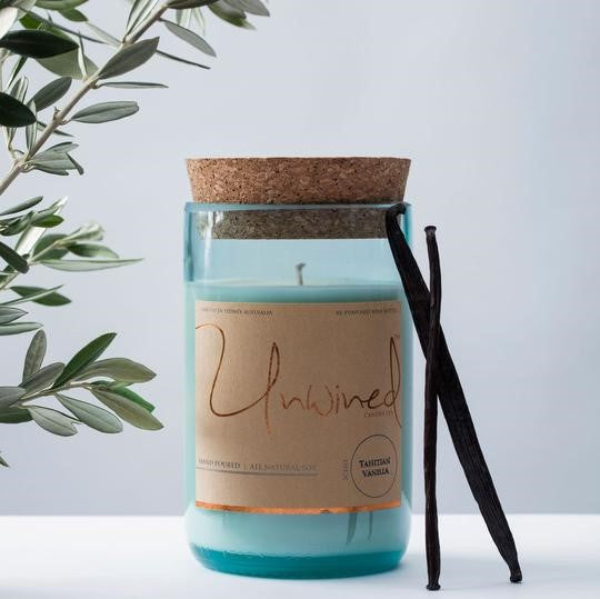 Unwined Candle co. Bitter Cherry & Clove