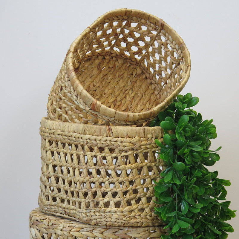 Water Hyacinth Basket – 'Oval Jada' – Large