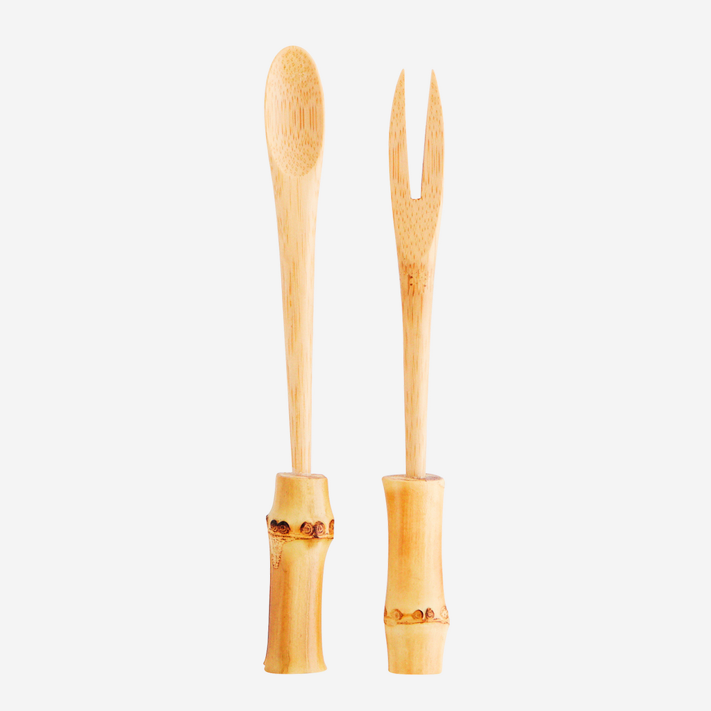 Bamboo Spoon & Fork Set