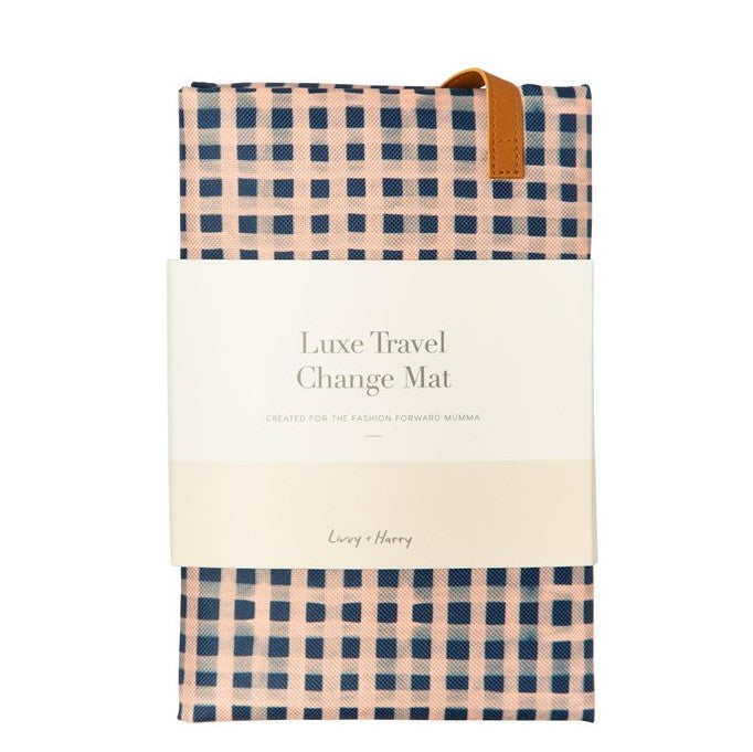 Travel Baby Change Mat - Classic Gingham