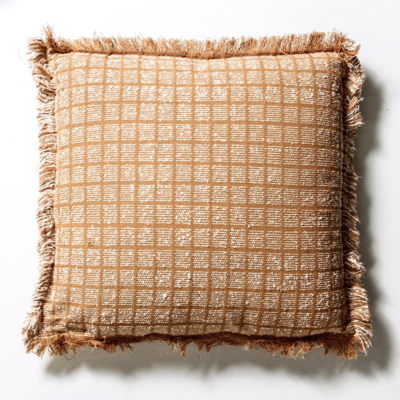 Mud Cloth Cushion - Cream Tribal