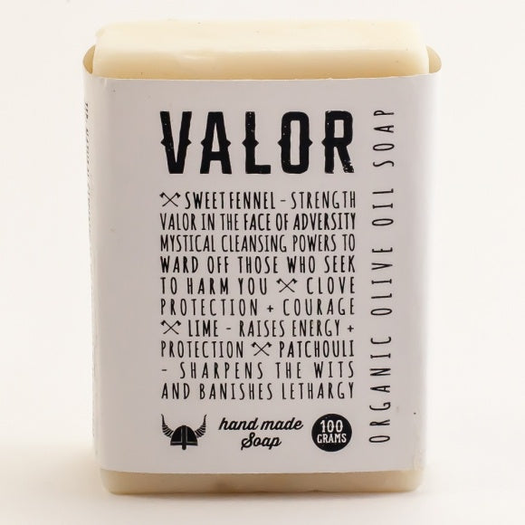 Valor Organic Olive Oil Face and Body Soap bar 100g - Original