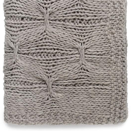 Knitted Throw Alka - Taupe