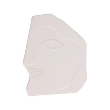 Face Wall Ornament L Matt White