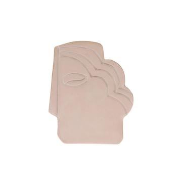 Face Wall Ornament S Shiny Taupe