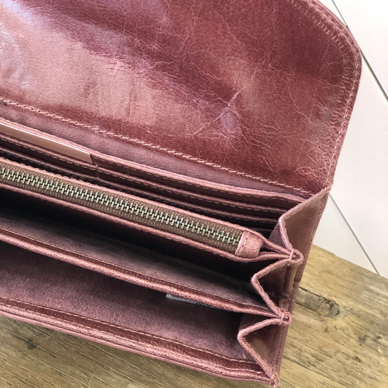 Coco Leather Wallet - Pinot