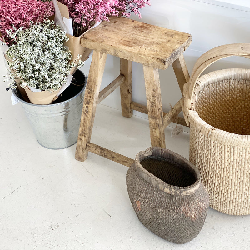 Chinese Grain Basket - Tall