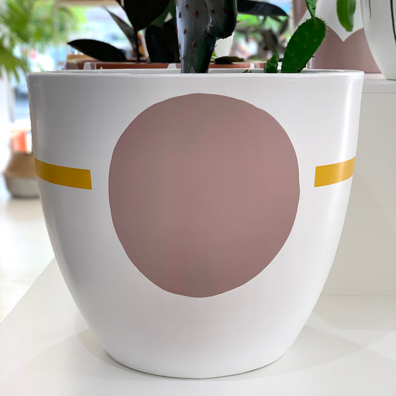 Terracotta Hand Painted Pot - Large