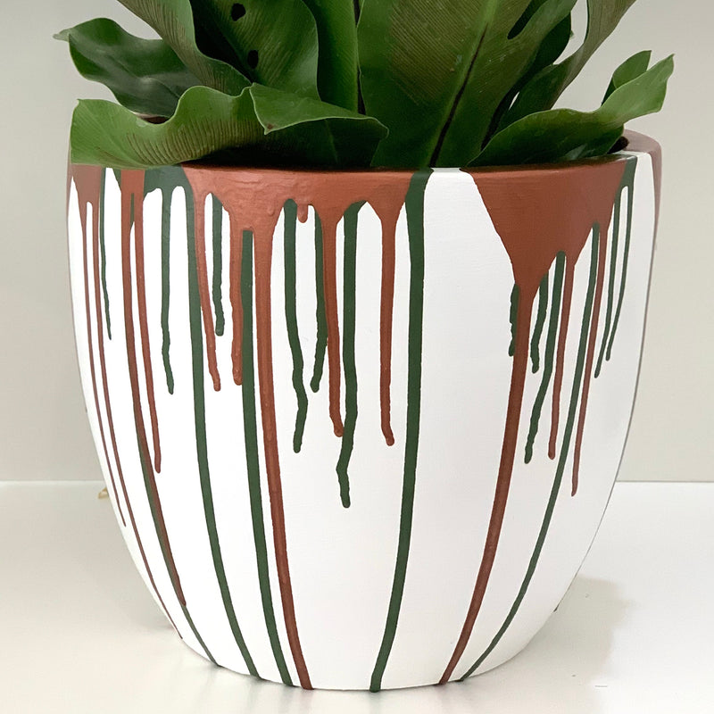 Terracotta Hand Painted Pot - Small